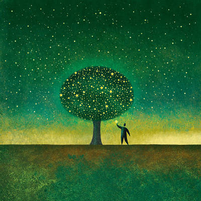 Digital Art - Star Tree by Roberto Weigand