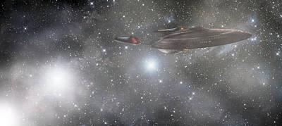 Photograph - Star Trek - Approaching The Neutral Zone by Jason Politte