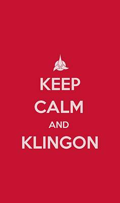 Show Digital Art - Star Trek - Calm Klingon by Brand A