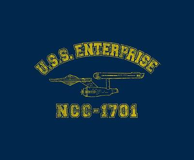 Enterprise Digital Art - Star Trek - Enterprise Athletic by Brand A