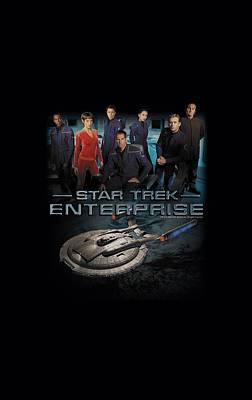 Enterprise Digital Art - Star Trek - Enterprise Crew by Brand A