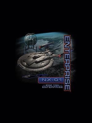Enterprise Digital Art - Star Trek - Enterprise Nx 01 by Brand A
