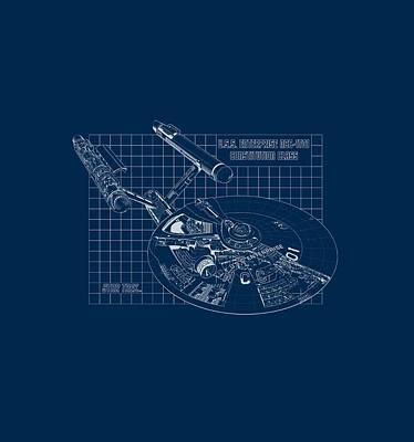 Enterprise Digital Art - Star Trek - Enterprise Prints by Brand A