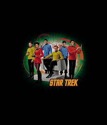 Enterprise Digital Art - Star Trek - Enterprises Finest by Brand A