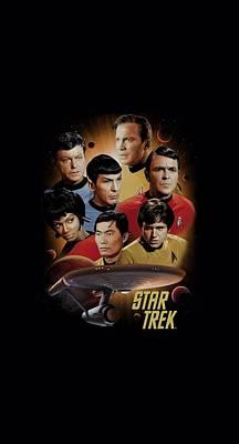Enterprise Digital Art - Star Trek - Heart Of The Enterprise by Brand A
