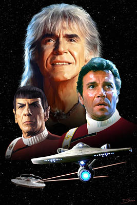 Enterprise Painting - Star Trek II - The Wrath Of Khan by Paul Tagliamonte