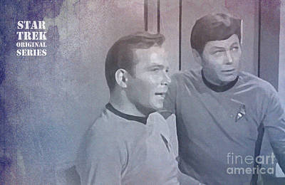 Star Trek Kirk And Mccoy Art Print