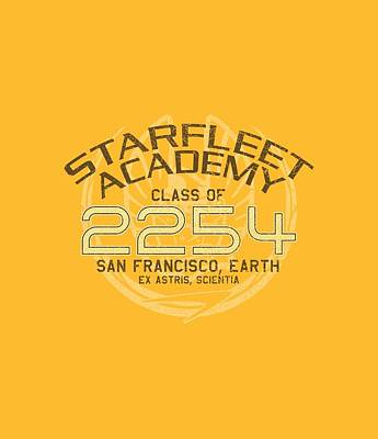 Show Digital Art - Star Trek - Kirk Graduation by Brand A