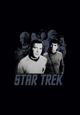 Show Digital Art - Star Trek - Kirk Spock And Company by Brand A
