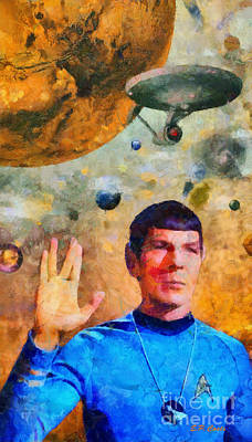 Star Trek-leonard Nimoy Art Print