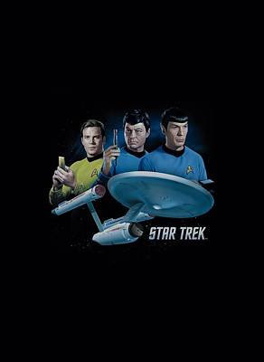 Star Trek Digital Art - Star Trek - Main Three by Brand A