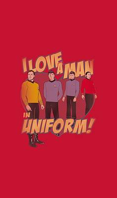 Show Digital Art - Star Trek - Man In Uniform by Brand A