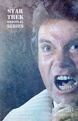 Khan Mixed Media - Star Trek Original Series Kirk Khan by Pablo Franchi