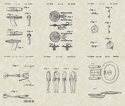 Star Trek Patent Collection Art Print