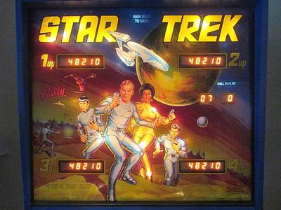 Spock Photograph - Star Trek Pinball Screen  by David Lovins