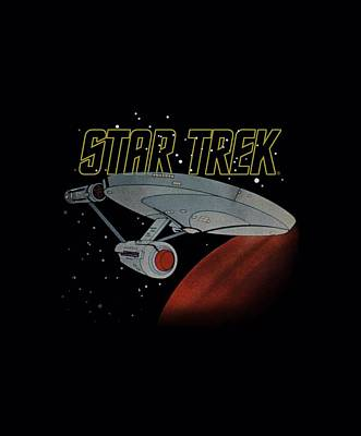 Enterprise Digital Art - Star Trek - Retro Enterprise by Brand A