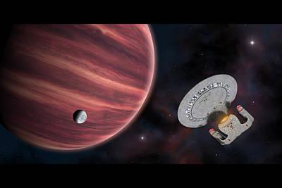 Digital Art - Star Trek The Red Planet by Ian Merton