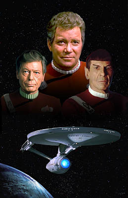 Enterprise Painting - Star Trek - The Undiscovered Country by Paul Tagliamonte