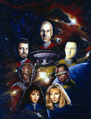 Science Fiction Painting - Star Trek Tng by Timothy Scoggins