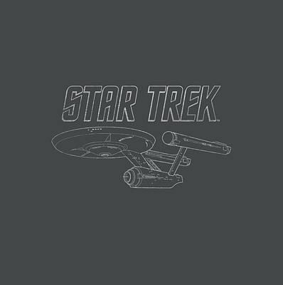 Enterprise Digital Art - Star Trek - Tos Enterprise by Brand A