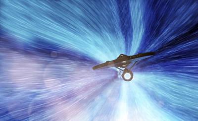 Photograph - Star Trek - Warp Speed Mr. Scott by Jason Politte