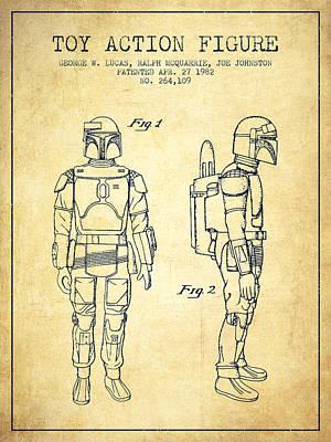 Star Wars Boba Fett Patent From 1982 - Vintage Art Print