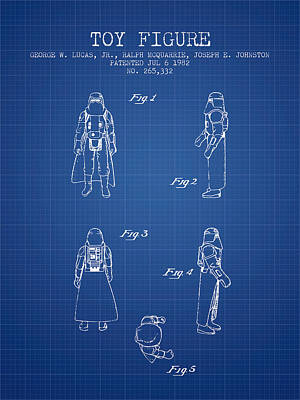 Science Fiction Royalty-Free and Rights-Managed Images - Star Wars Darth Vader patent from 1982 - Blueprint by Aged Pixel