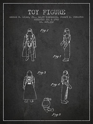 Science Fiction Royalty-Free and Rights-Managed Images - Star Wars Darth Vader patent from 1982 - Charcoal by Aged Pixel