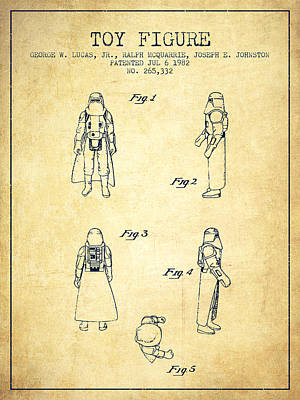Science Fiction Royalty-Free and Rights-Managed Images - Star Wars Darth Vader patent from 1982 - Vintage by Aged Pixel