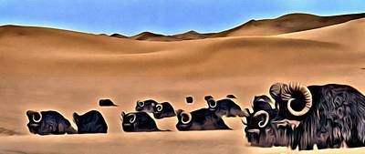 Painting - Star Wars Desert Animals by Florian Rodarte