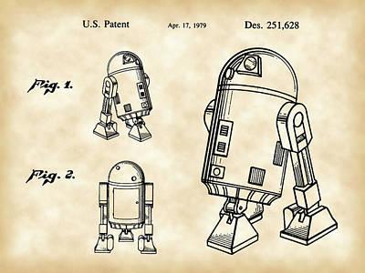 R2-d2 Digital Art - Star Wars R2-d2 Patent 1979 - Vintage by Stephen Younts