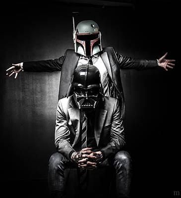 War Photograph - Star Wars Suit Up by Marino Flovent