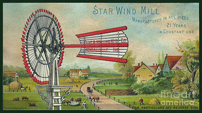 Artful And Whimsical Digital Art - Star Wind Mill Co Flint And Walling Mfr Co Rural Farm by Pierpont Bay Archives