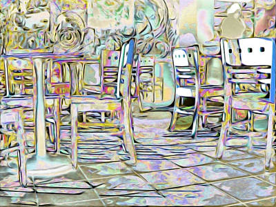 Digital Art - Starbucks After Hours by Mark Greenberg