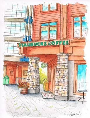Starbucks Coffee In Mammoth Lake, California Original by Carlos G Groppa