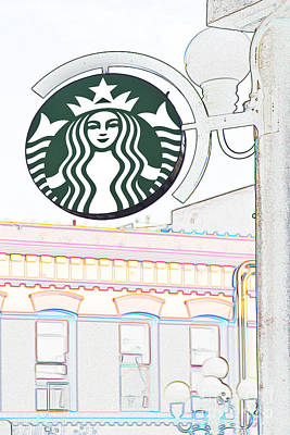 Starbucks Art Print