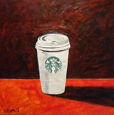 Painting - Starbucks by Manny Chapa