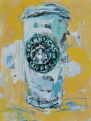 Painting - Starbucks Still Life Painting by Robert Joyner
