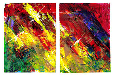 Painting - Starburst Diptyk by Thomas Lupari