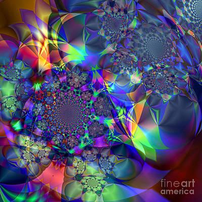 Art Print featuring the digital art Starcluster 1 by Ursula Freer