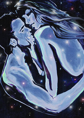 Starcrossed Lovers Art Print by Jane Schnetlage