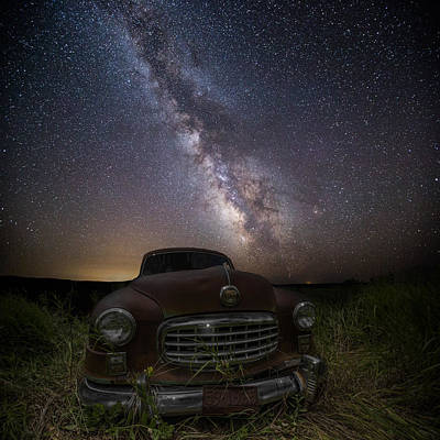 Stardust And Rust  Nash Motors Art Print by Aaron J Groen