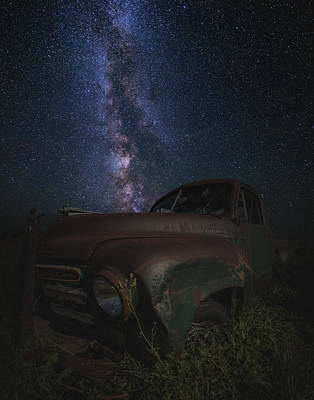 Rusty Old Trucks Photograph - Stardust And Rust  Studebaker by Aaron J Groen