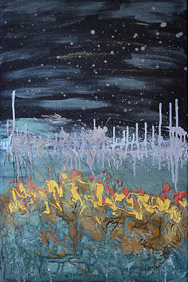 Flare Painting - Stardust by Donna Blackhall