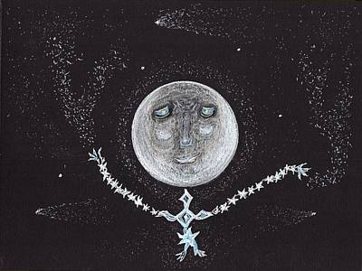 Drawing - Stardust Moon by Jim Taylor