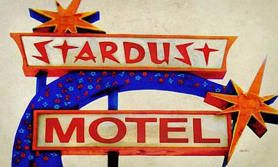 Digital Art - Stardust Motel Sign by Ann Powell