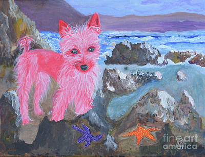 Starfish And The Pink Pampered Pooch Original by Christine Dekkers