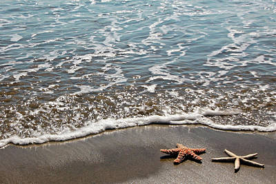 Photograph - Starfish Catching The Waves by Athena Mckinzie