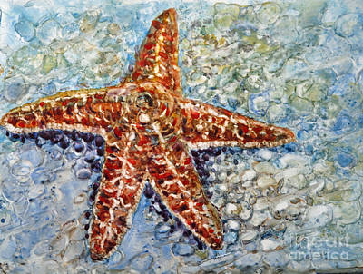 Painting - Starfish by Louise Peardon