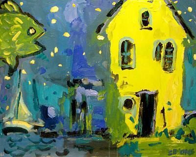 Painting - Starfish Yellow House by Brian Simons